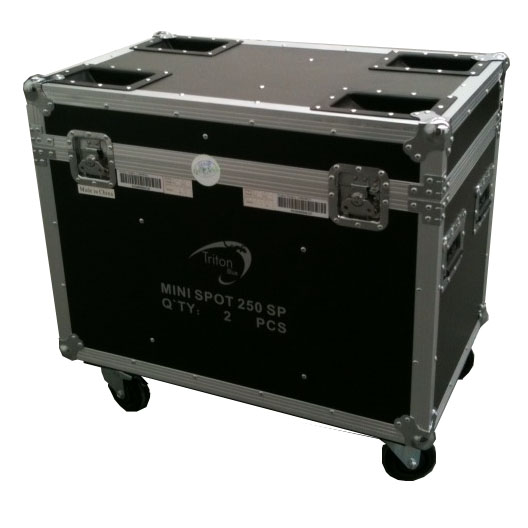 FLIGHTCASE 2 CABEZAS MOV. MINI, MINI F-250-2